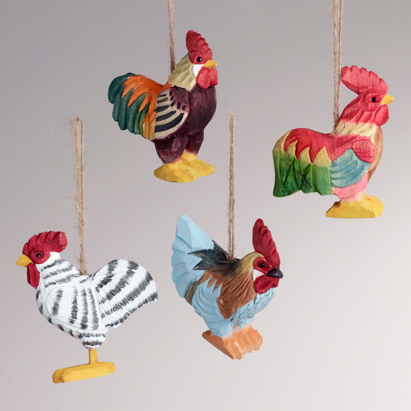 Rooster Ornaments