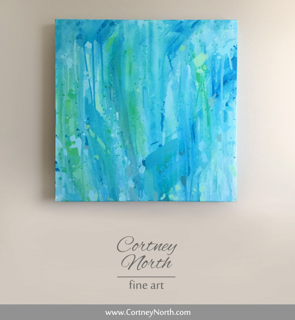 Blue, Green and Turquoise Abstract Painting