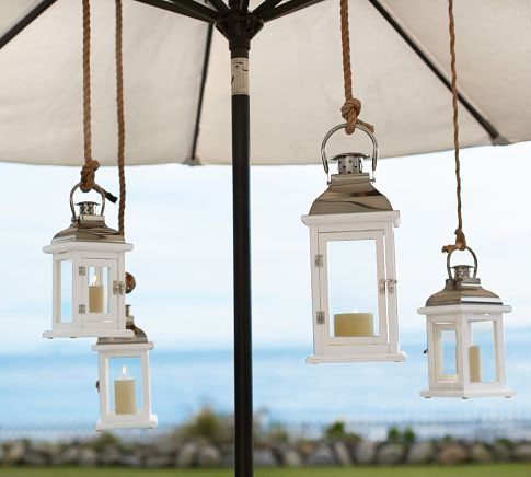Ocean hanging lanterns from Potterybarn