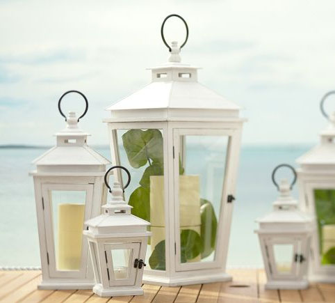 Seaside cottage lanterns from Potterybarn