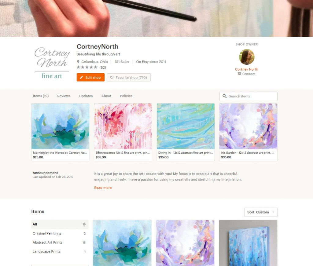 Cortney North Abstract Fine Art on Etsy!
