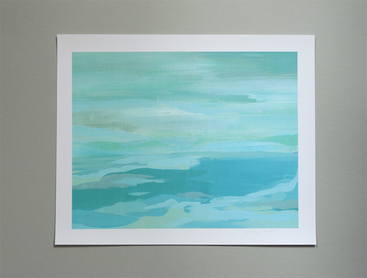 Turquoise and Gray 11x14 art print by Cortney North at Cortney North Fine Art