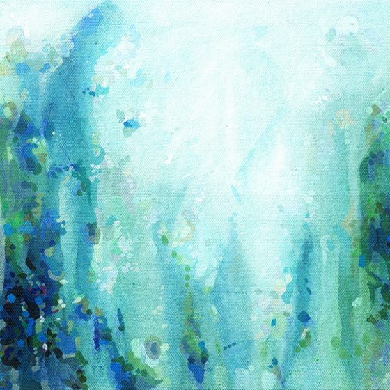 Thundering Mountain by Cortney North, abstract print