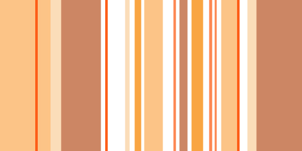 Varying Oranges arranged in a striped pattern
