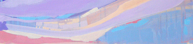 Orange and Purple Abstract Art Painting by Cortney North