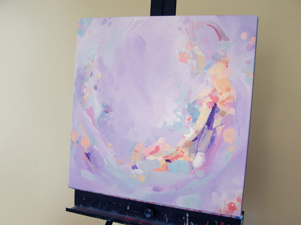 New Painting Style Update...Purple Abstract Painting by Cortney North