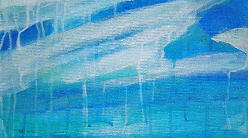Blue and White ocean painting by Cortney North Fine Art