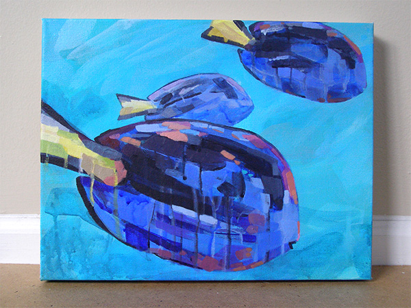 Palette surgeonfish painting by Cortney North