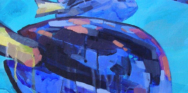 Blue Tang Painting Banner by Cortney North