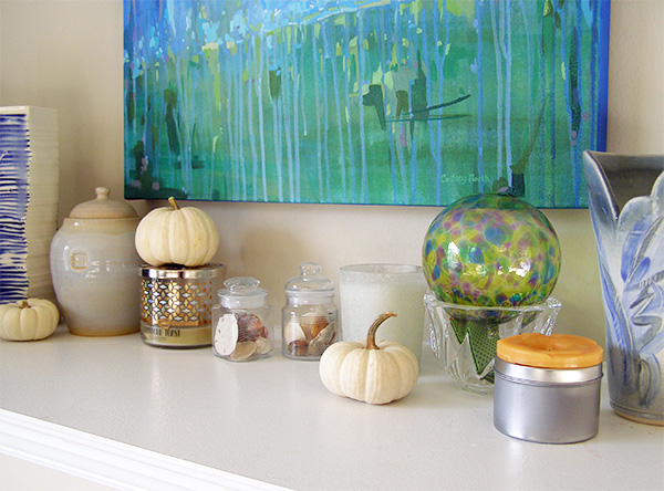 Hint of Fall Fireplace Mantel by Cortney North