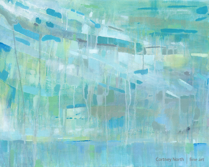Caribbean Holiday turquoise wall art by Cortney North