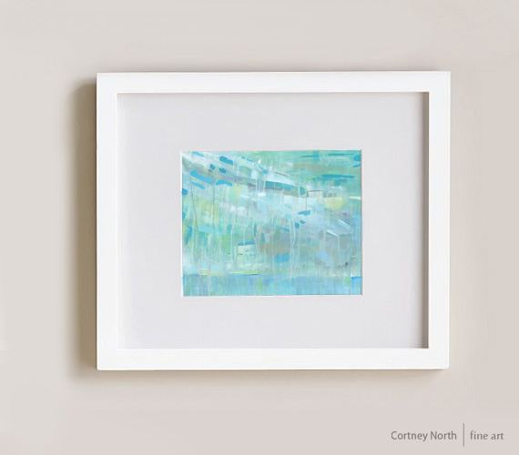 Caribbean Holiday in White Frame by Cortney North