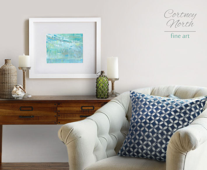 Caribbean Holiday with neutral and blue interior by Cortney North