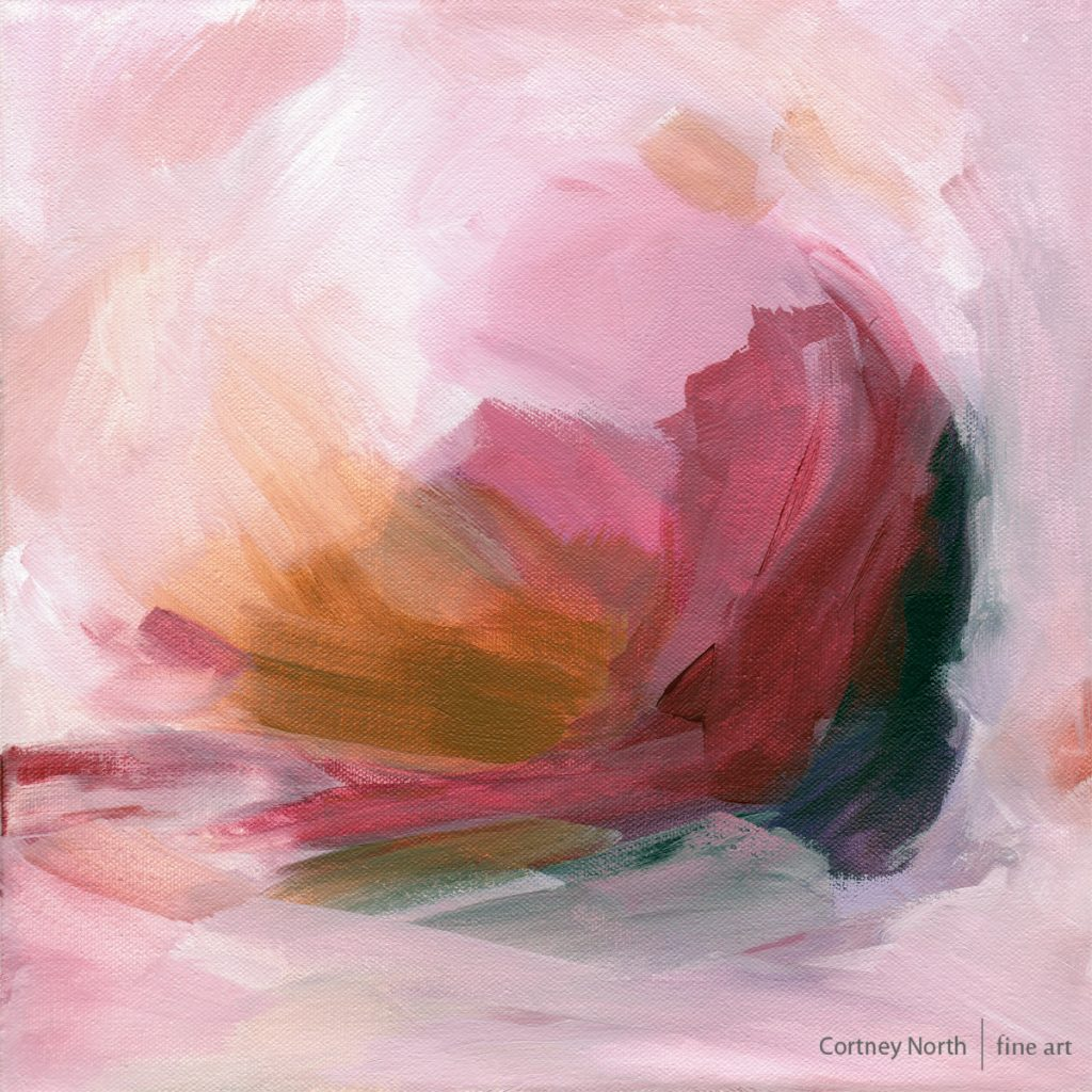Hibiscus, Abstract wall art by Cortney North