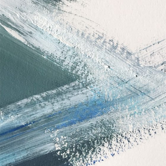 Water Movement #1 by Cortney North, abstract painting in navy and gray