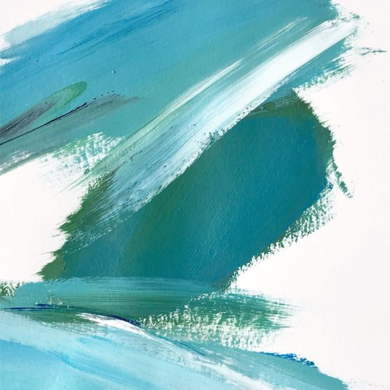 Water Movement #3 by Cortney North, coastal-inspired abstract art
