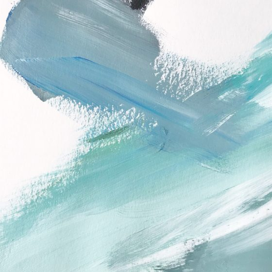 Water Movement #5 by Cortney North, coastal-inspired abstract art